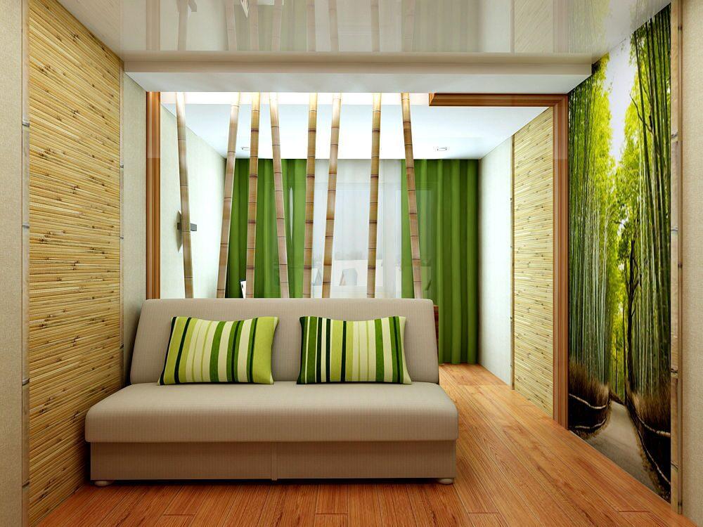 Обои бамбук в интерьере фото прихожая
