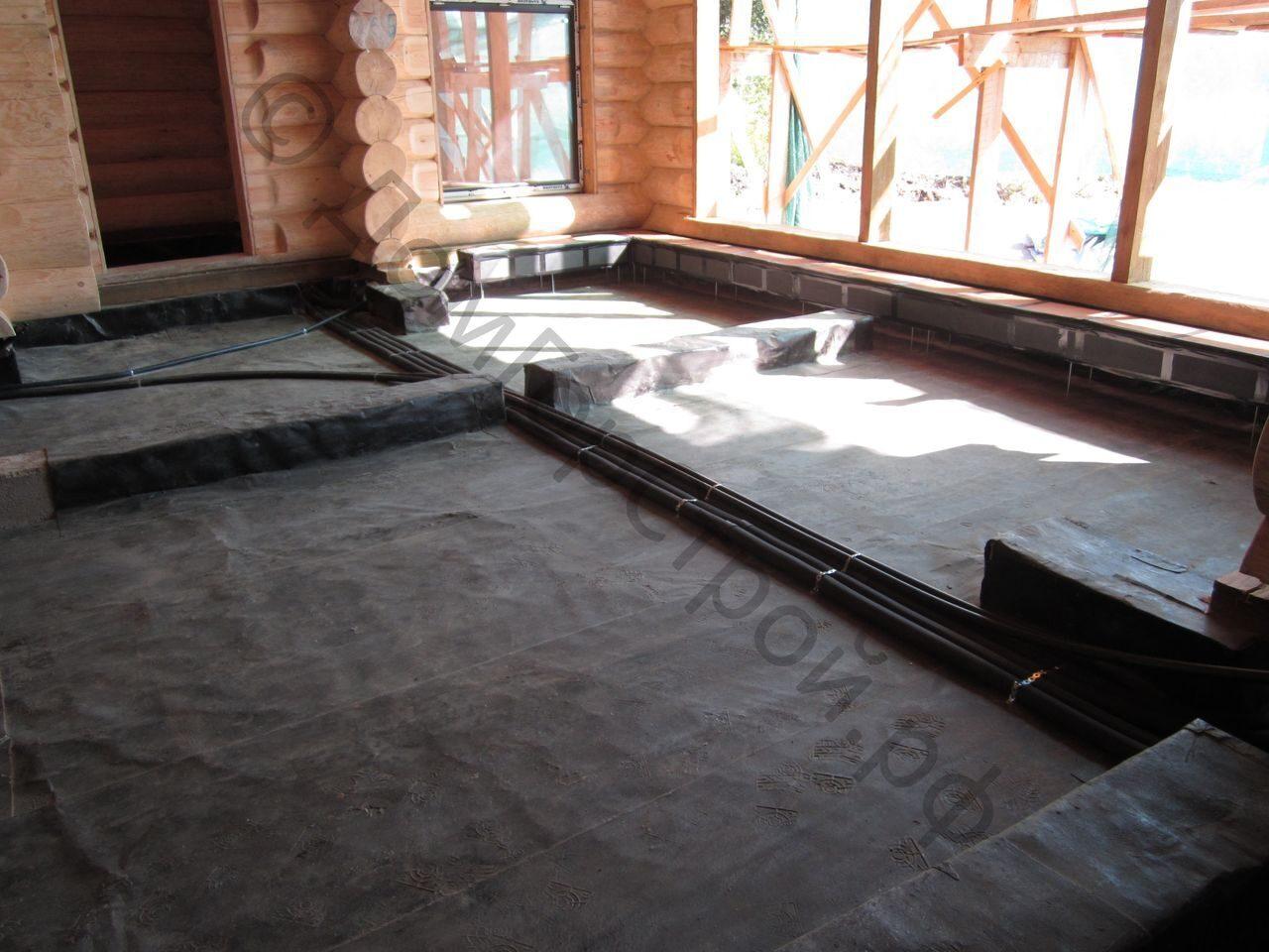 Как залить пол в доме бетоном своими руками