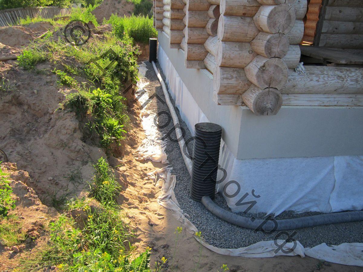 Водоотвод вокруг дома своими руками фото